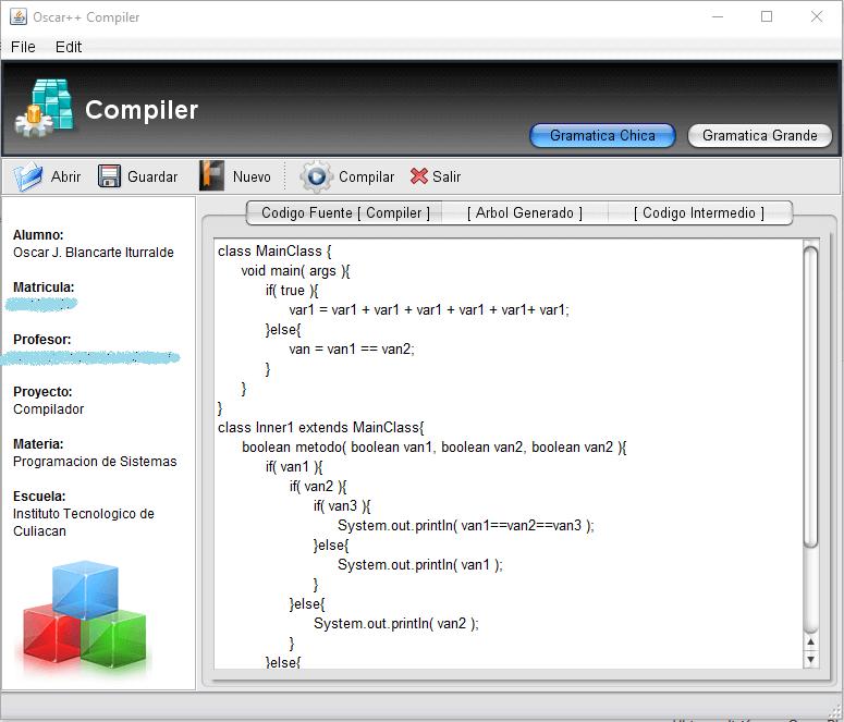Compiladores Oscar++